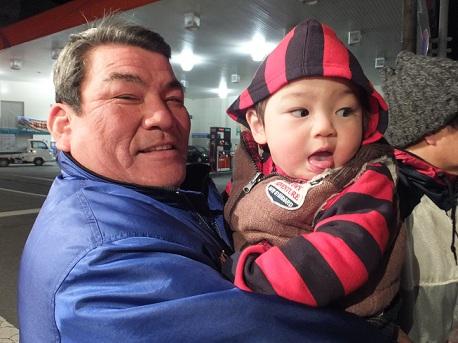おじいちゃんと息子。