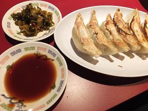 餃子と高菜♪